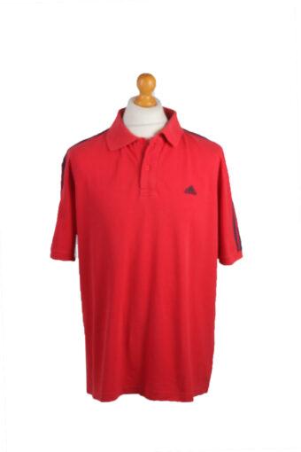 Adidas Polo Shirt 90s Retro Red XXL