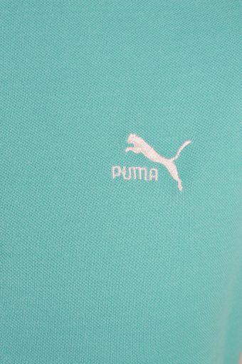 """Puma Vintage Casual Men Polo Shirt Aqua Chest Size 43"""" -PT0277-24204"""