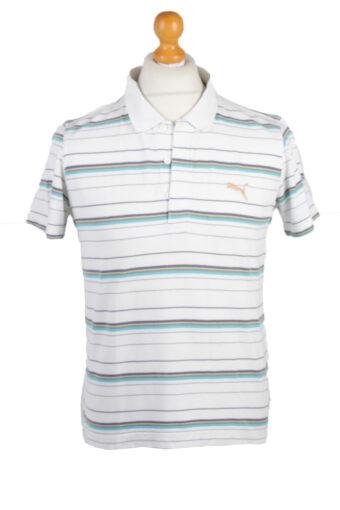 Puma Polo Shirt 90s Retro White M