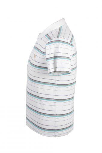 Puma Vintage Casual Men Polo Shirt White/Stripes Size M -PT0305-24379