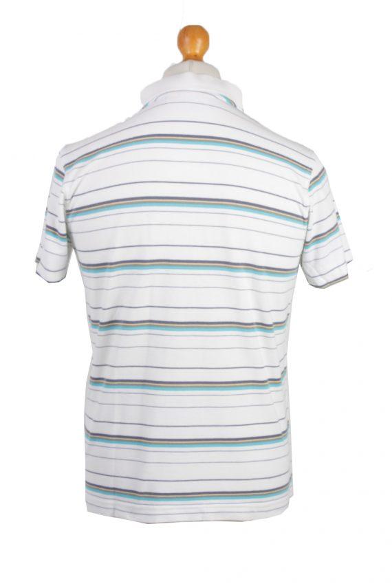 Puma Vintage Casual Men Polo Shirt White/Stripes Size M -PT0305-24380