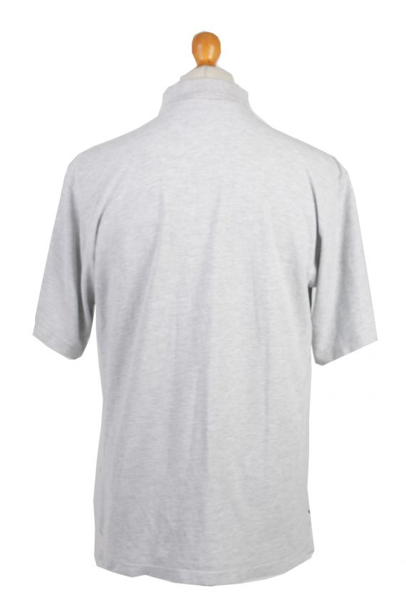 """Adidas Vintage Casual Men Polo Shirt Grey Chest Size 45""""-PT0307-24340"""