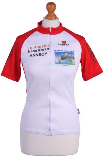 Cycling Shirt Jersey 90s Retro White XS