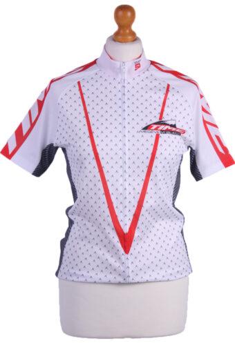 Cycling Shirt Jersey 90s Retro White S