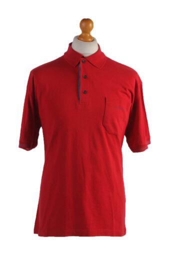Polo Shirt 90s Retro Red XXL