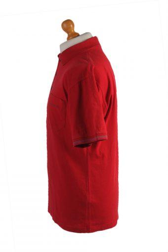 "Daniel Hechter Vintage Casual Men Polo Shirt Red Chest Size 47"" -PT0410-24642"