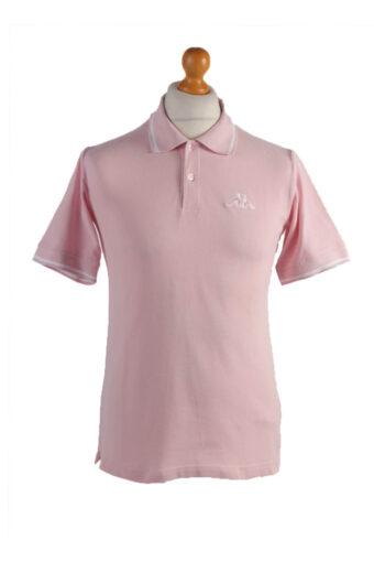Kappa Polo Shirt 90s Retro Pink S
