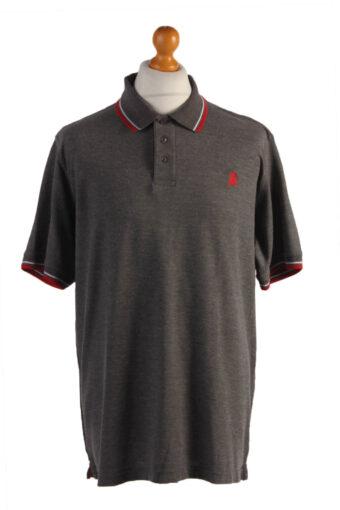 Polo Shirt 80s Retro Grey XXXL