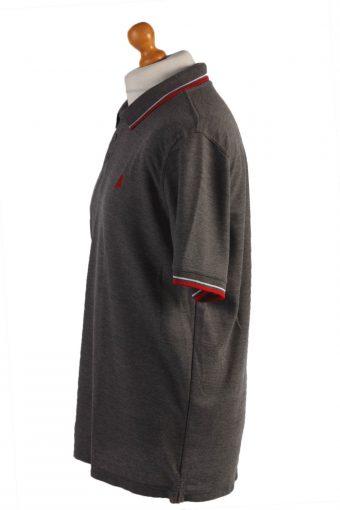 Okay Vintage Casual Men Polo Shirt Gray Size XXL-PT0439-24729