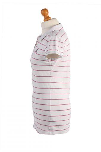 "Adidas Vintage Casual Women Polo Shirt White/Stripes Chest Size 35"" -PT0455-24784"