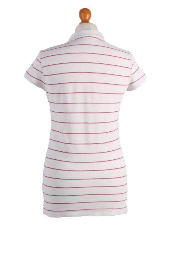 "Adidas Vintage Casual Women Polo Shirt White/Stripes Chest Size 35"" -PT0455-24785"