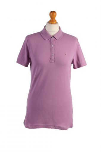 Tommy Hilfiger Polo Shirt 90s Retro Purple M