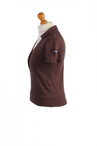 """Tommy Hilfiger Vintage Casual Women Polo Shirt Brown Chest Size 34"""" -PT0463-24805"""