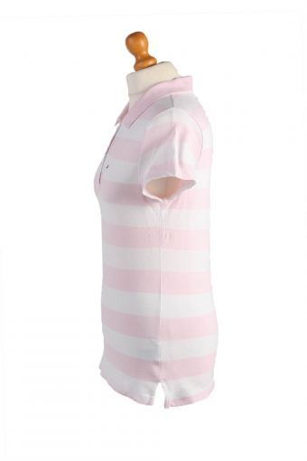 """Tommy Hilfiger Vintage Casual Women Polo Shirt Pink Chest Size 34"""" -PT0464-24808"""