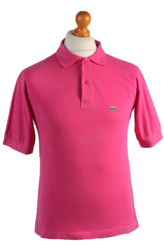 "Lacoste Vintage Casual Men Polo Shirt Pink Chest Size 39"" -PT0505-0"