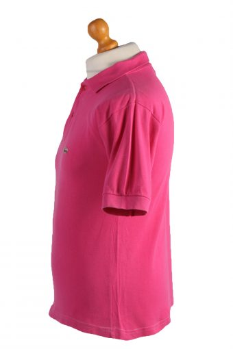 "Lacoste Vintage Casual Men Polo Shirt Pink Chest Size 39"" -PT0505-24936"