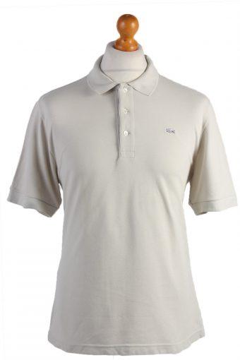Lacoste Polo Shirt 90s Retro Stone L