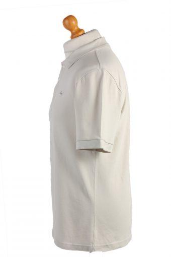 """Lacoste Vintage Casual Men Polo Shirt Cream Chest Size 40"""" -PT0509-24949"""