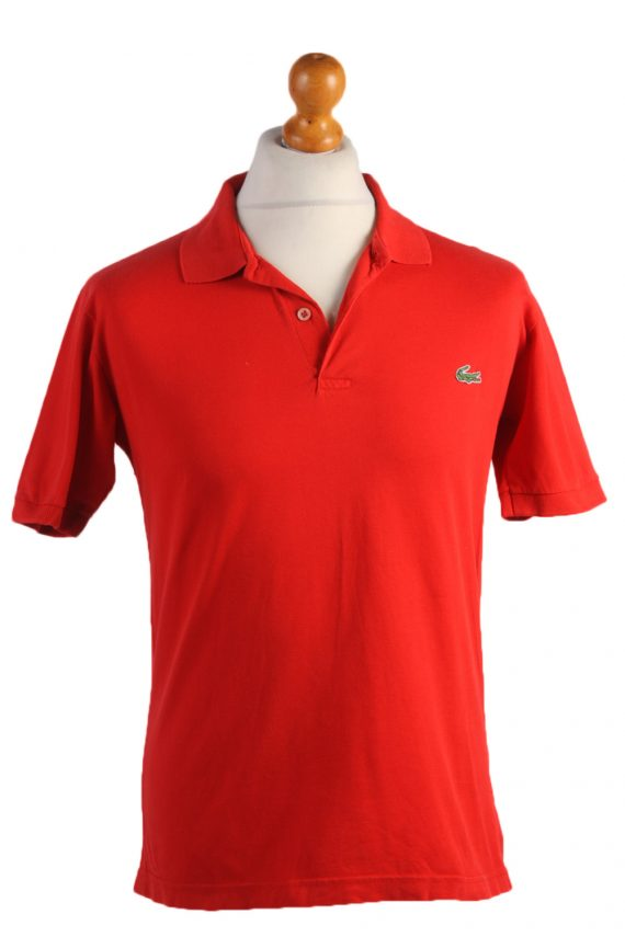 """Lacoste Vintage Casual Men Polo Shirt Red Chest Size 40"""" -PT0527-0"""
