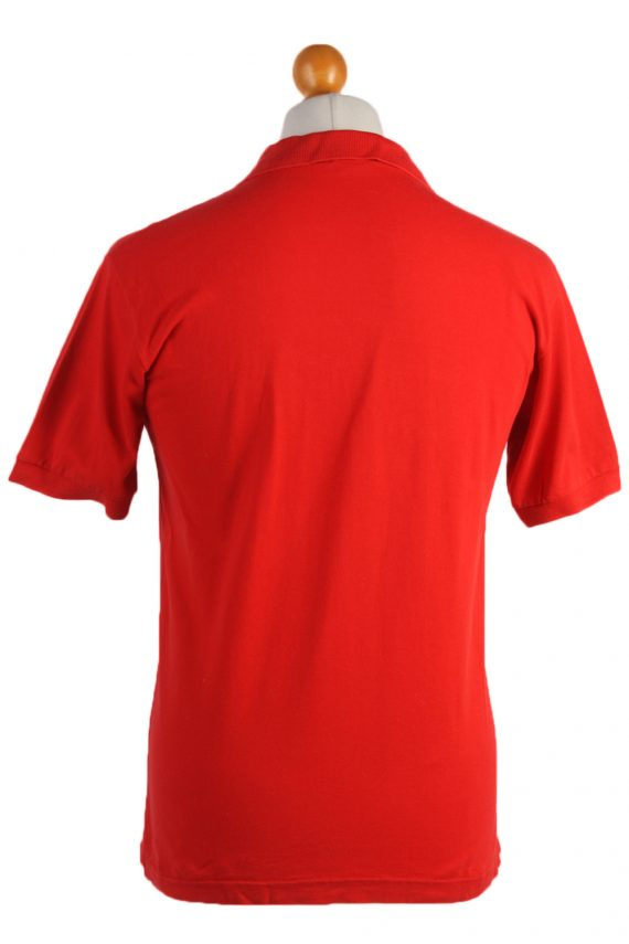 """Lacoste Vintage Casual Men Polo Shirt Red Chest Size 40"""" -PT0527-25001"""