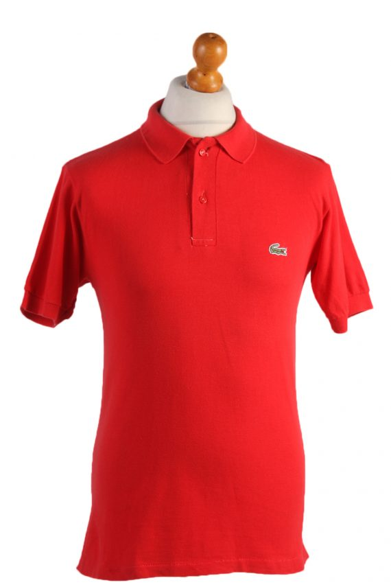 """Lacoste Vintage Casual Men Polo Shirt Red Chest Size 39"""" -PT0528-0"""