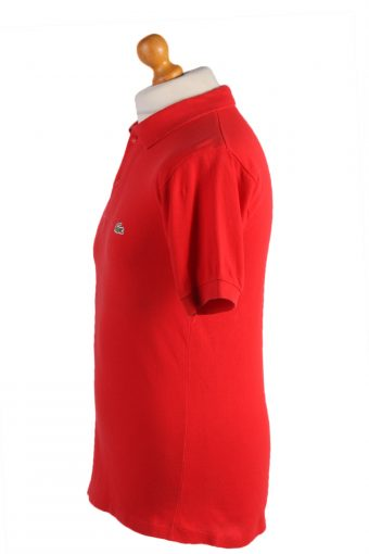 """Lacoste Vintage Casual Men Polo Shirt Red Chest Size 39"""" -PT0528-25003"""