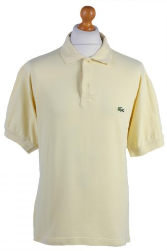 Lacoste Polo Shirt 90s Retro Yellow L