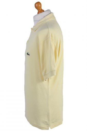 "Lacoste Vintage Casual Men Polo Shirt Yellow Chest Size 47"" -PT0565-25118"