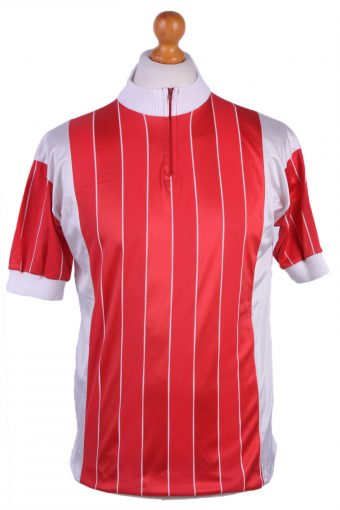 Cycling Shirt Jersey 90s Retro Red L