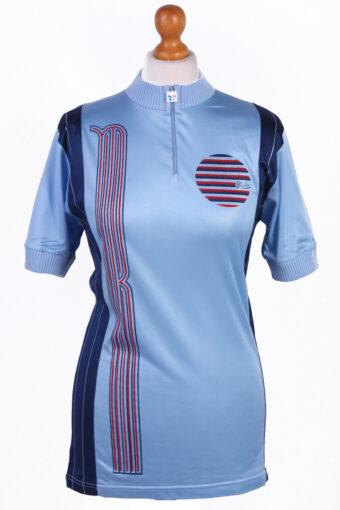 Cycling Shirt Jersey 90s Retro Blue S