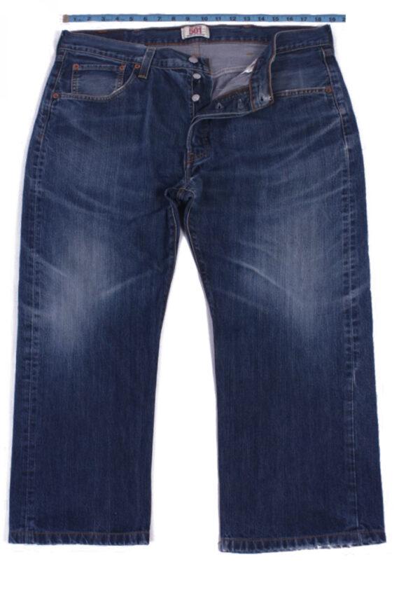 Levi`s 501 Vintage Blue Jeans with Buttons&Zip Unisex Size - W37 L23 - J2055-0