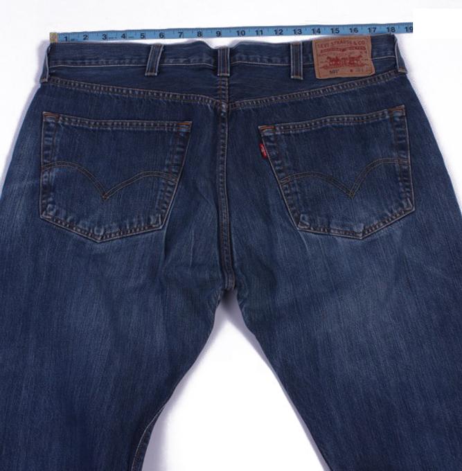 Levi`s 501 Vintage Blue Jeans with Buttons&Zip Unisex Size - W37 L23 - J2055-26014