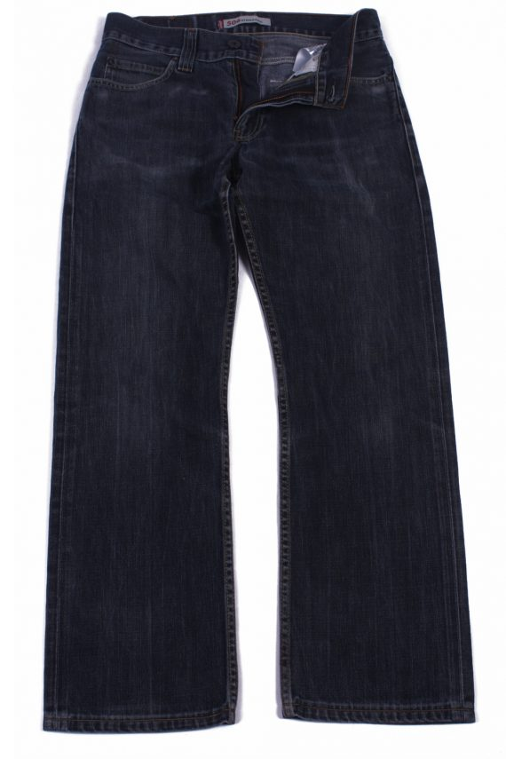 Levi`s 506 Vintage Blue Jeans with Buttons&Zip Unisex Size - W32 L29.5 - J2059-0