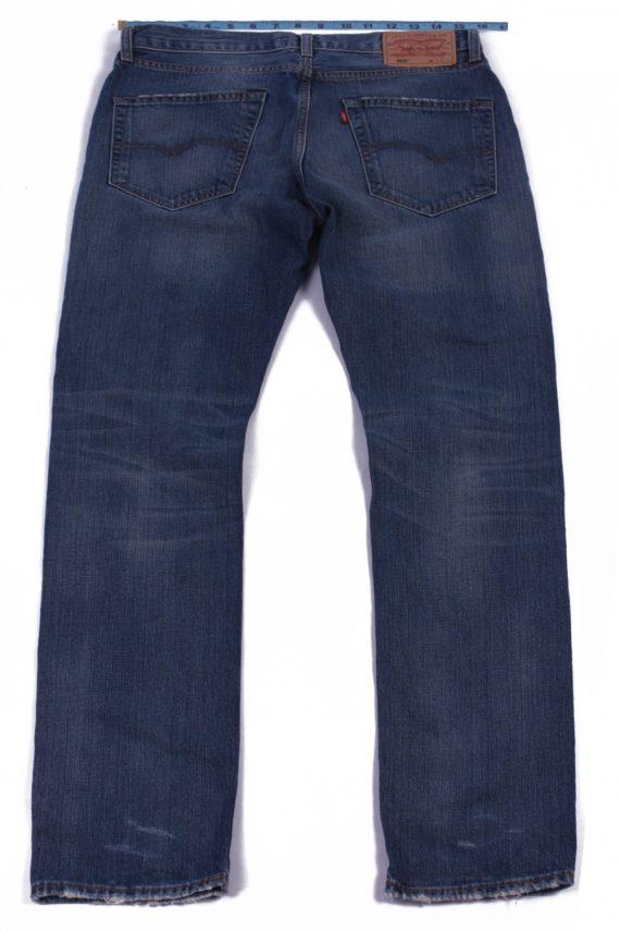 Levi`s 505 Vintage Blue Jeans with Buttons&Zip Unisex Size - W31 L34 - J2062-26034