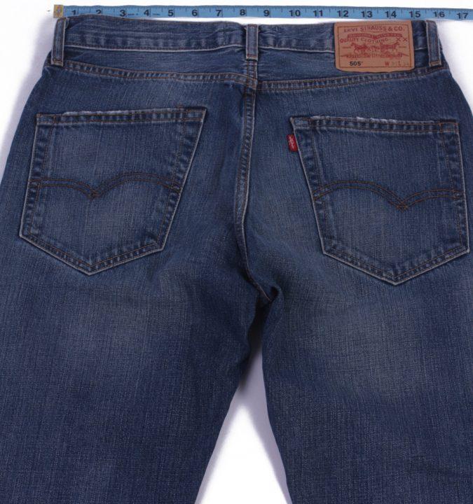 Levi`s 505 Vintage Blue Jeans with Buttons&Zip Unisex Size - W31 L34 - J2062-26035