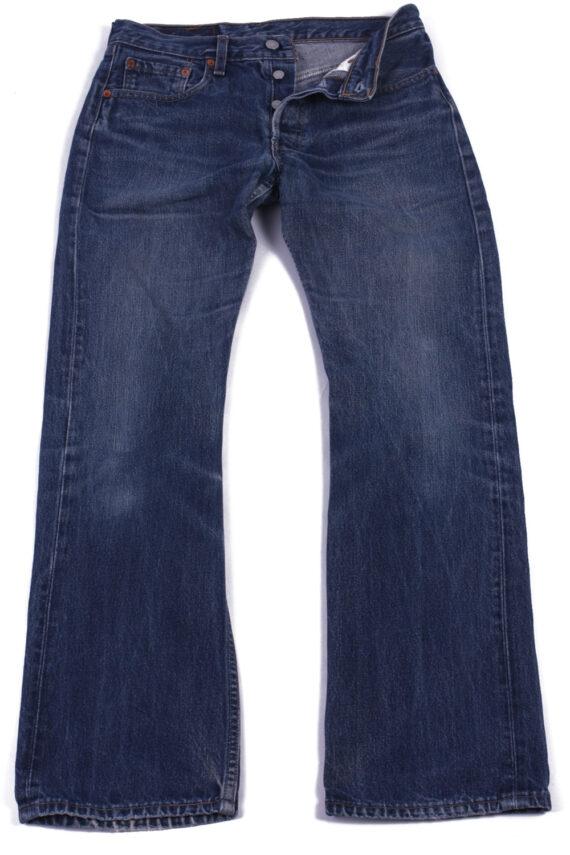 Levi`s 555 Vintage Blue Jeans with Buttons&Zip Unisex Size - W30 L31 - J2063-0
