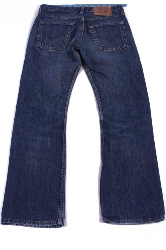 Levi`s 555 Vintage Blue Jeans with Buttons&Zip Unisex Size - W30 L31 - J2063-26037
