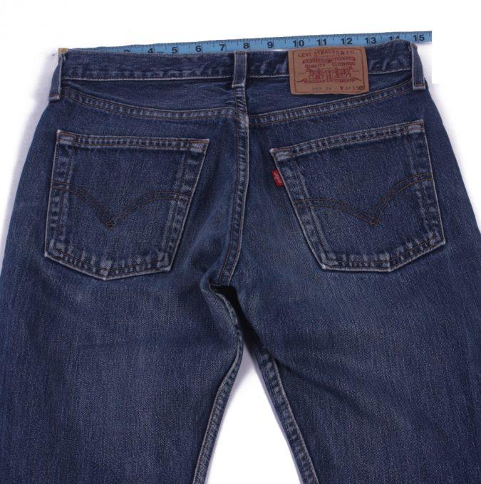 Levi`s 555 Vintage Blue Jeans with Buttons&Zip Unisex Size - W30 L31 - J2063-26038