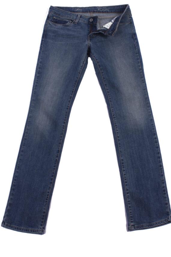 Levi`s Vintage Blue Jeans with Buttons&Zip Unisex Size - W27 L32 - J2087-0