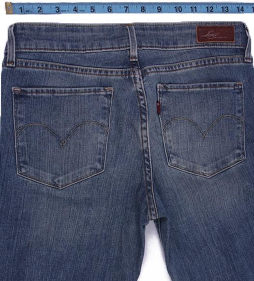 Levi`s Vintage Blue Jeans with Buttons&Zip Unisex Size - W27 L32 - J2087-26109