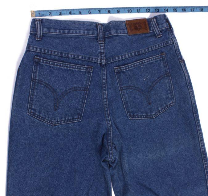 Efro Dennim Vintage Blue Jeans with Buttons&Zip Women Size - W30 L32.5 - J2100-26147