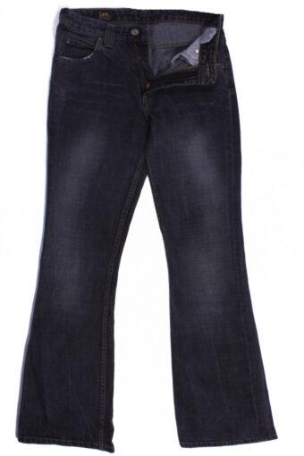 Lee Denim Jeans Fla Leg Mid Waist Women W28 L33