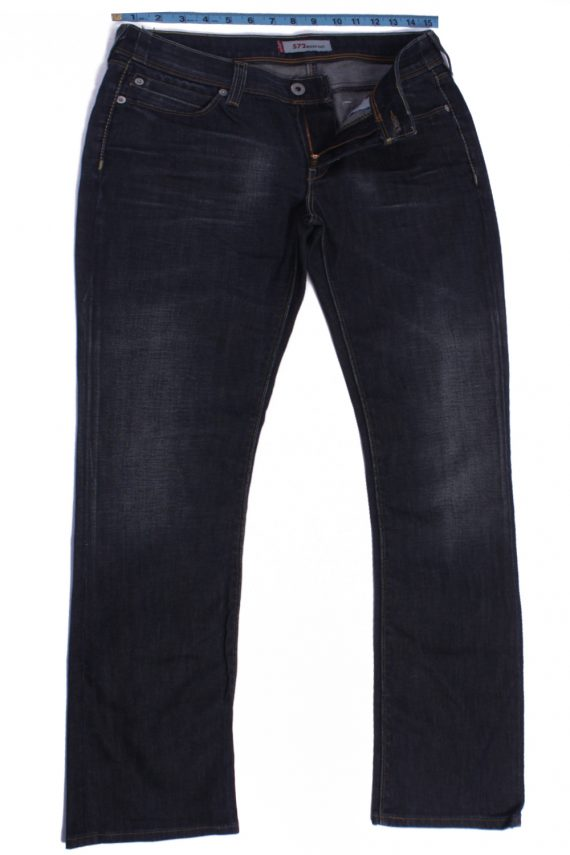 Levi`s 572 Vintage Dark Grey Jeans Zip Women Size - W30 L33 - J2102-0