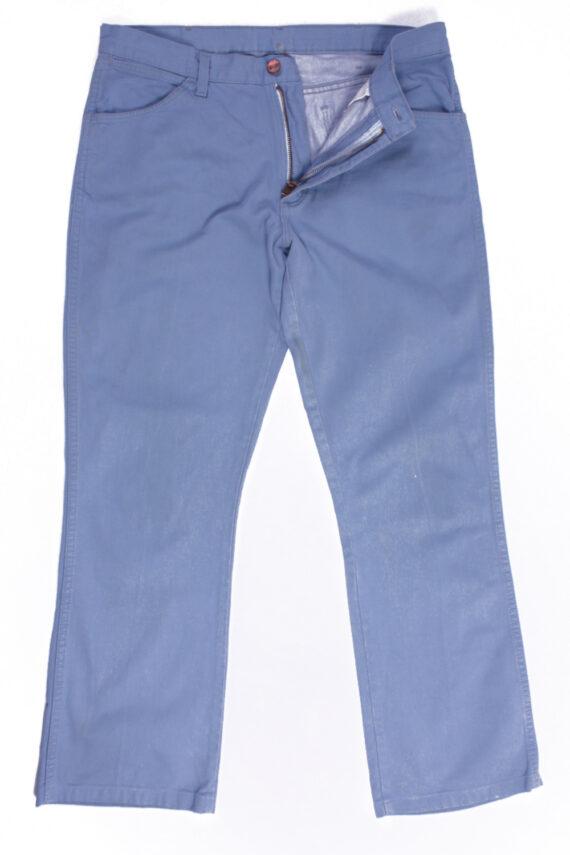 Wrangler Vintage Blue Jeans with Buttons&Zip Unisex Size - W:33 L:31 - J2105-0