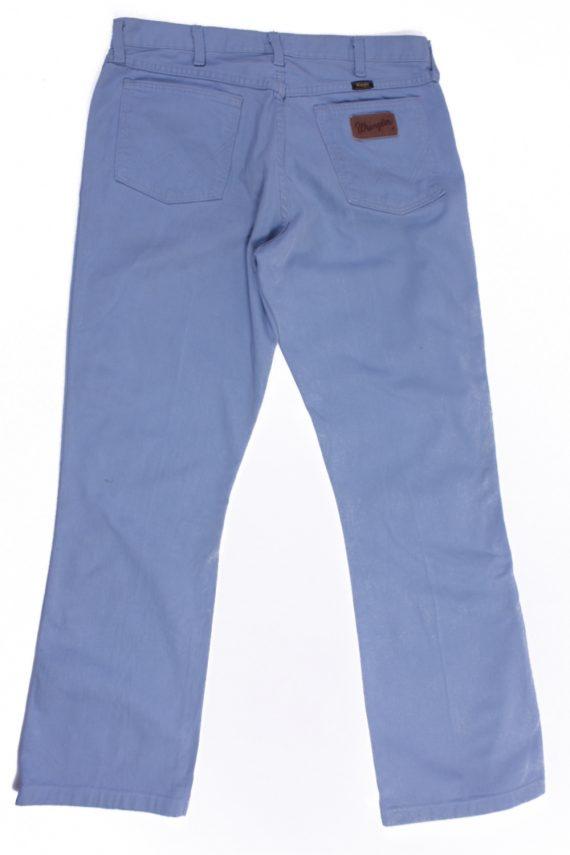 Wrangler Vintage Blue Jeans with Buttons&Zip Unisex Size - W:33 L:31 - J2105-26163