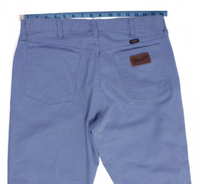 Wrangler Vintage Blue Jeans with Buttons&Zip Unisex Size - W:33 L:31 - J2105-26164