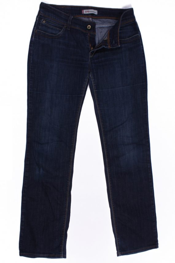 Levi`s 570 Vintage Blue Jeans with Buttons&Zip Women Size - W:30 L:33.5 - J2106-0