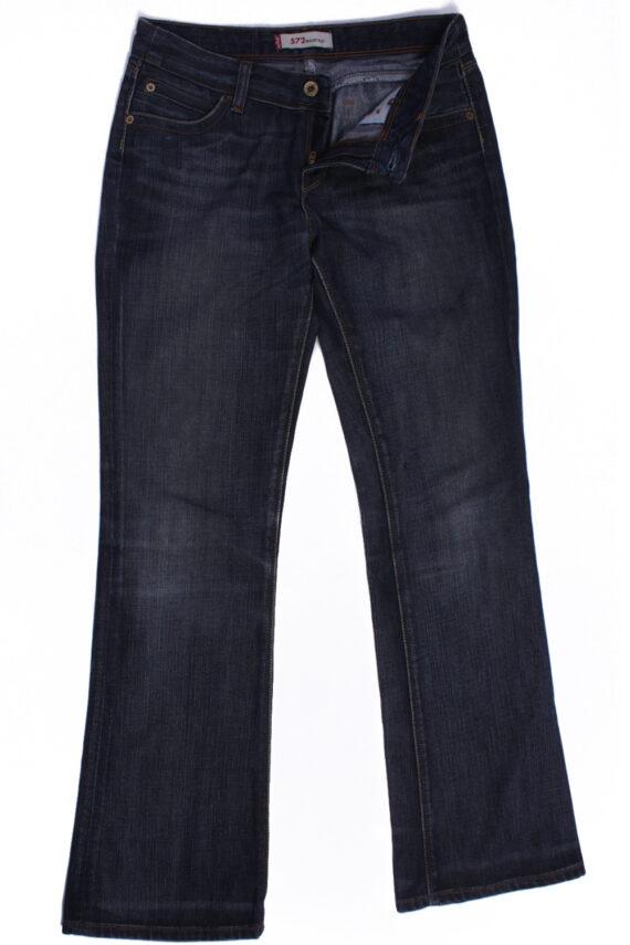Levi`s 572 Vintage Blue Jeans with Buttons&Zip Women Size - W:29 L:32 - J2112-0