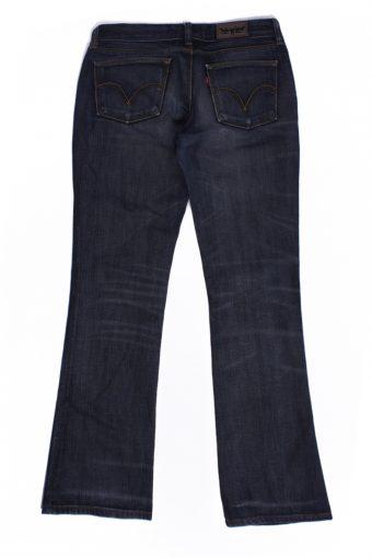Levi`s 572 Vintage Blue Jeans with Buttons&Zip Women Size - W:29 L:32 - J2112-26184