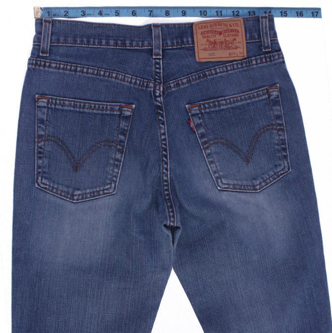 Levi`s 525 Vintage Blue Jeans with Buttons&Zip Unisex Size - W:29 L:31 - J2113-26188